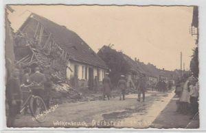76243 Foto Ak Gerbstedt Zerstörungen nach dem Wolkenbruch 1925