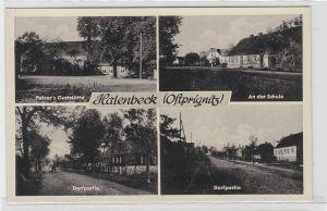 64196 Mehrbild Ak Halenbeck (Ostprignitz) Palzers Gaststätte usw. um 1940