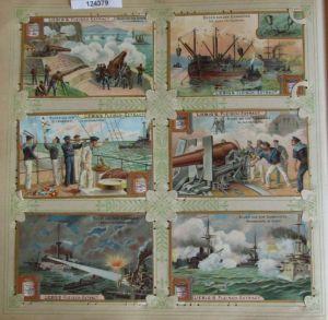 C124379 Liebigbilder Serie Nr. 523 Bilder aus dem Seemanöver 1902