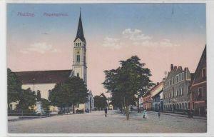 90272 Feldpost Ak Plattling Preysingplatz 1916