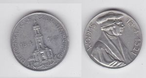 Seltene Aluminium Medaille Reformations Gedächtniskirche Nürnberg 1921 (131713)