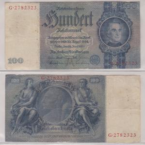 100 Mark Reichsbanknote Deutsches Reich 24.6.1935 Ro 176 a (123676)