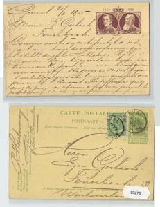 93278 Ganzsachen AK 75 Jahre Königreich Belgien Portrait Leopold I. & II. 1905