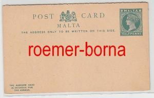 74735 seltene Antwort Ganzsachen Postkarte Malta 1/2 Penny um 1900