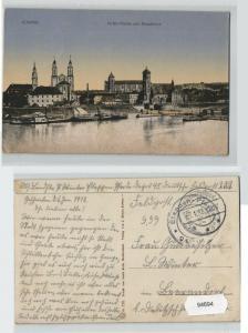 94694 Feldpost AK Kowno (Kauen) - Hafen-Partie und Stadtblick 1918