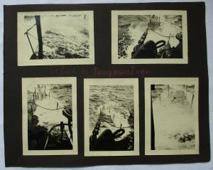9 alte Original Fotos U-Boot Tauchmanöver, Panzer, Flakstellung 2. WK (124923)