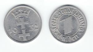 1 Gulden Silber Münze Freie Stadt Danzig 1932 (126948)