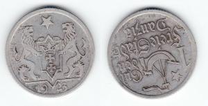 1 Gulden Silber Münze Freie Stadt Danzig 1923 (124228)