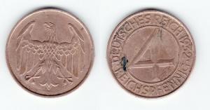 4 Pfennig Kupfer Münze Deutsches Reich 1932 A  (126964)