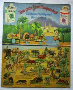 Seltenes Quieta-Werke Diorama Nr. 11 mit 34 Aufstellfiguren Afrika (100867)