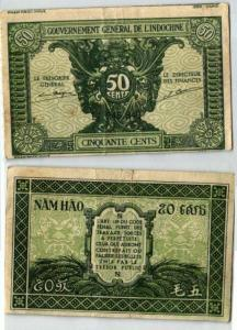 50 Cents Banknote Gouvernement French Indochina (1942) (127119)