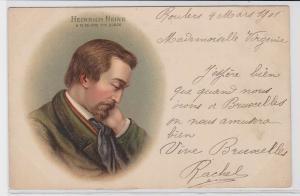 86604 Künstler AK Heinrich Heine Portrait 1901