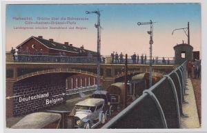 77317 AK Herbesthal - Brücke über die Bahnstrecke Cöln-Aachen-Brüssel-Paris 1916