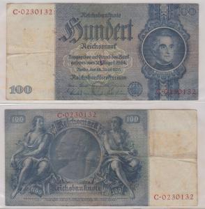 100 Mark Reichsbanknote Deutsches Reich 24.6.1935 Ro 176 a (129631)