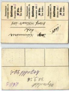 60 Pfennig Quittung Turnerbund Lörrach 1884 e.V. 1936 (126701)