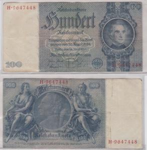 100 Mark Reichsbanknote Deutsches Reich 24.6.1935 Ro 176 a (120558)