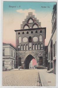 93371 AK Stargard in Pommern - Pyritzer Tor, Kunstmann Feinbäckerei 1912