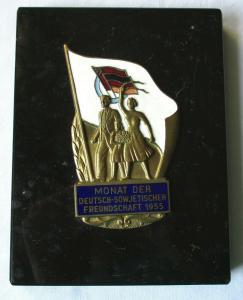 Plakette Deutsch-Sowjetische Freundschaft Monat der DSF 1955 (124865)
