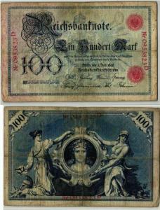 100 Mark Reichsbanknote Deutsches Reich 1.7.1898 (125932)