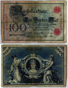 100 Mark Reichsbanknote Deutsches Reich 1.7.1898 (120735)