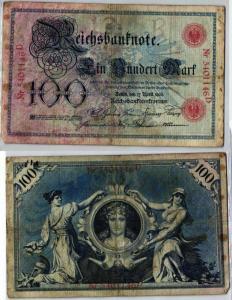 100 Mark Reichsbanknote Deutsches Reich 17.April 1903 (129369)
