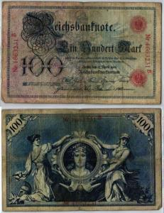 100 Mark Reichsbanknote Deutsches Reich 17.April 1903 (129305)