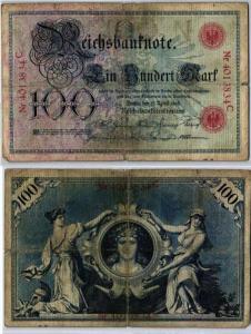 100 Mark Reichsbanknote Deutsches Reich 17.April 1903 (126937)