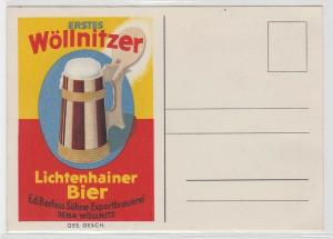 38305 Reklame AK Lichtenhainer Bier - Barfuss Söhne Exportbrauerei Jena-Wöllnitz