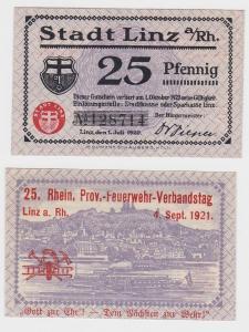 25 Pfennig Banknoten Notgeld Stadt Linz am Rhein 1.Juli 1920 (121576)