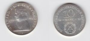 DDR Gedenk Silber Münze 10 Mark Gerhard J.D. v. Scharnhorst 1980 Stgl. (122947)