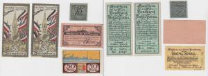 5 Banknoten Notgeld Stadt Flensburg um 1920 (132592)