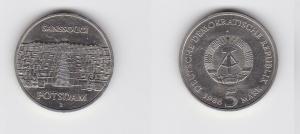 DDR Gedenk Münze 5 Mark Potsdam Neues Palais 1986 (125685)