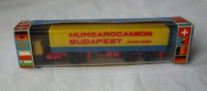 DDR TT Modellauto Sattelzug Roman-Diesel Hungarocamion Budapest OVP (124788)