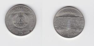 DDR Gedenk Münze 5 Mark Potsdam Neues Palais 1986 (129374)