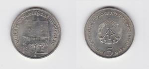 DDR Gedenk Münze 5 Mark Luthers Geburtshaus in Eisleben 1983 (126285)
