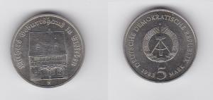 DDR Gedenk Münze 5 Mark Luthers Geburtshaus in Eisleben 1983 (129965)