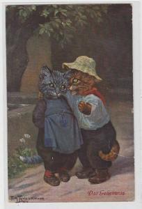 86438 Arthur Thiele Künstler Ak Katze