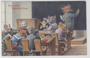 88609 Arthur Thiele Künstler Ak Katze