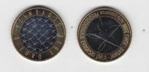 3 Euro Bi-Metall Gedenkmünze Slowenien 2008 EU-Ratspräsidentschaft (115843)