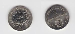 DDR Gedenk Münze 5 Mark Adolph Freiherr von Lützow 1984 Stempelglanz (120699)
