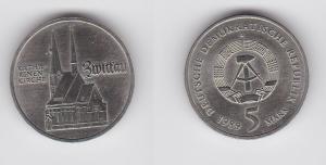DDR Gedenk Münze 5 Mark Zwickau Katharinenkirche 1989 (128751)