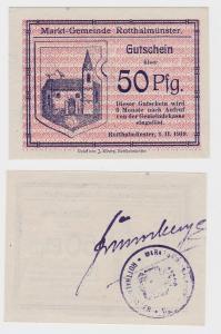 50 Pfennig Banknote Notgeld Markt Gemeinde Rotthalmünster (119626)