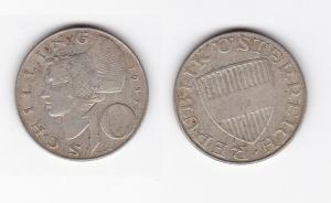 10 Schilling Silber Münze Österreich 1957 (129993)