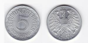 5 Schilling Silber Münze Österreich 1952 (129994)