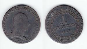 1 Kreuzer Kupfer Münze Österreich Wiener Währung 1812 A (126784)