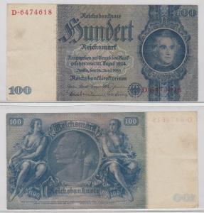 100 Mark Reichsbanknote Deutsches Reich 24.6.1935 Ro 176 c (122217)