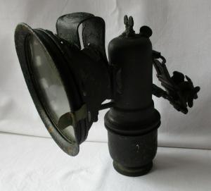 Alte Fahrradlampe-Karbidlampe Detectiv Hermann Riemann Chemnitz/Gablenz (101366)