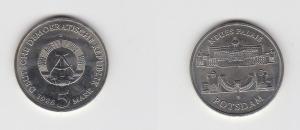 DDR Gedenk Münze 5 Mark Potsdam Neues Palais 1986 (123400)