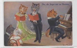 47094 Arthur Thiele Künstler Ak Katze