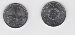 DDR Gedenk Münze 5 Mark Berlin Nikolai Viertel 1987 (123605)